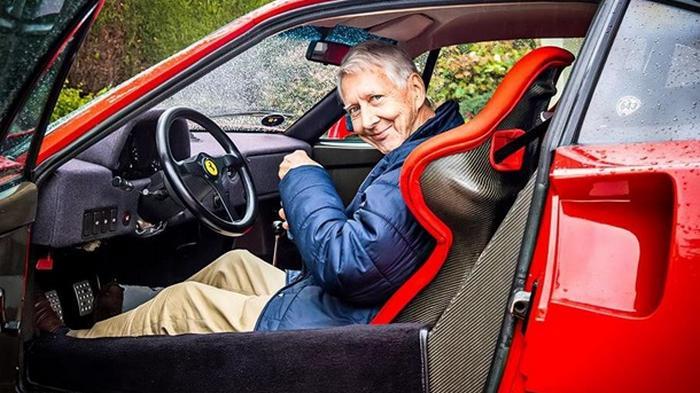 В США 80-летний пенсионер ездит на Ferrari F40 (видео)