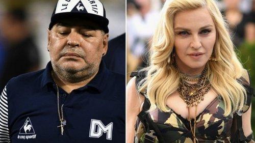 В США люди после смерти Марадоны начали прощаться с Мадонной