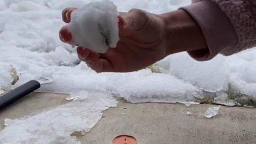 Теория заговора: техасцы снимают фейковый снег (видео)