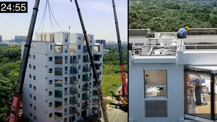Шок: в Китае показали стройку многоэтажки за сутки (видео)