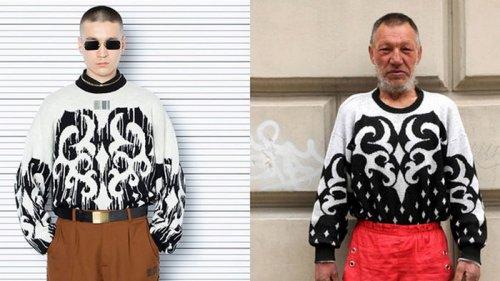 Модный бренд обвинили в копировании образов бомжа (фото)