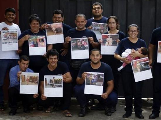 В Парагвае пожарные снялись обнаженными для протеста