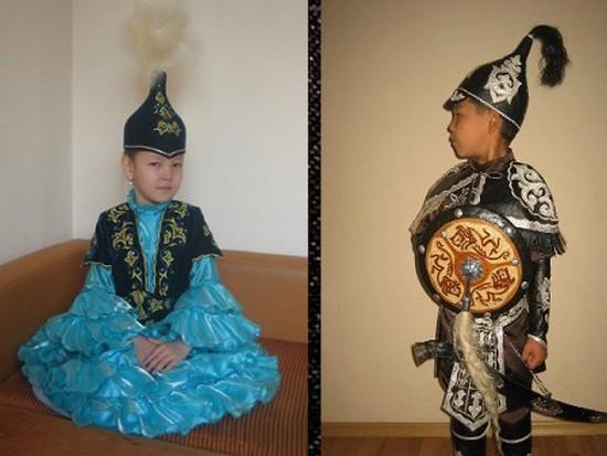 Детская казахская национальная одежда от компании «Abyroikz»