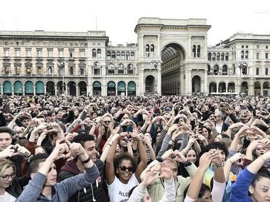 На марш против расизма вышли 200 тысяч итальянцев