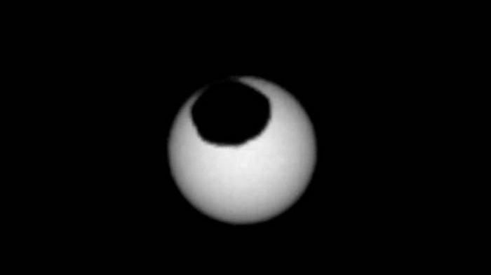 NASA опубликовало фото солнечного затмения на Марсе