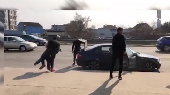 В Киеве имитировали похищение человека (видео)