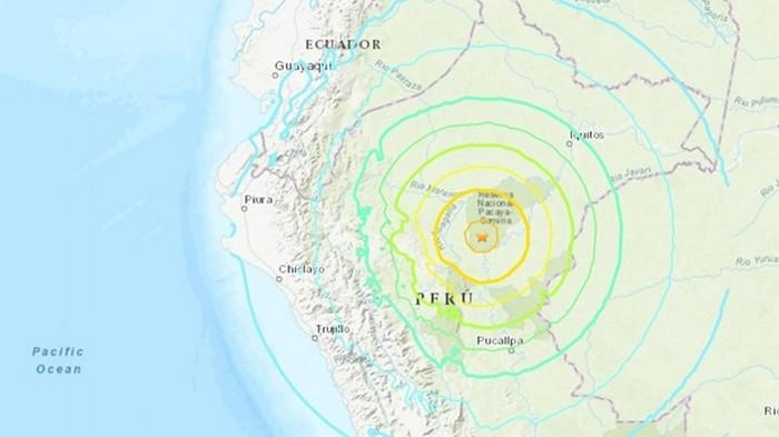 В Перу произошло разрушительное землетрясение