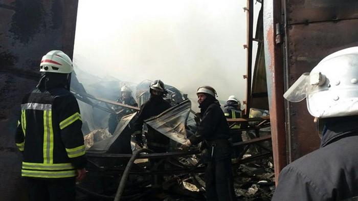 В Харькове произошел масштабный пожар