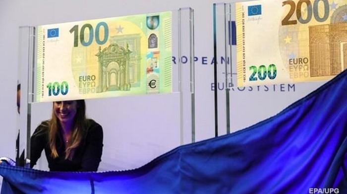 В ЕС вводятся в обращение новые купюры в 100 и 200 евро (фото)