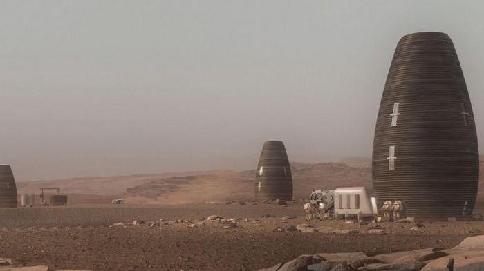 Представлено будущее марсианское жилье напечатанное на 3D-принтере
