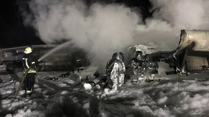 Пожар автоцистерн в Киеве ликвидирован
