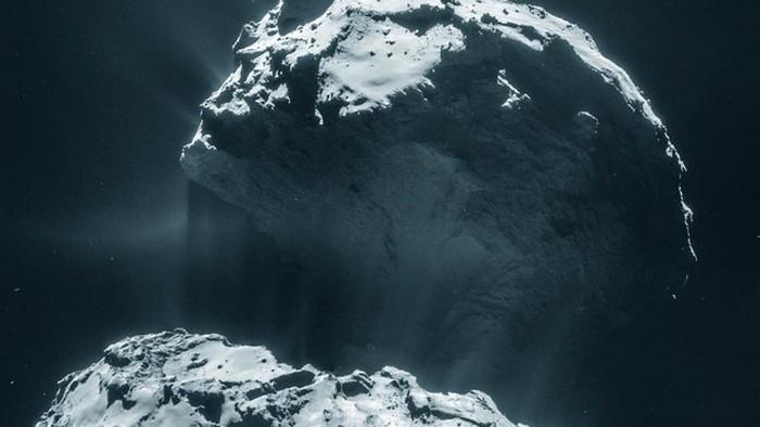 Ученые обнаружили на комете странные прыгающие камни: фото