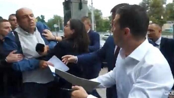 Стычка Мендель с журналистом: полное видео