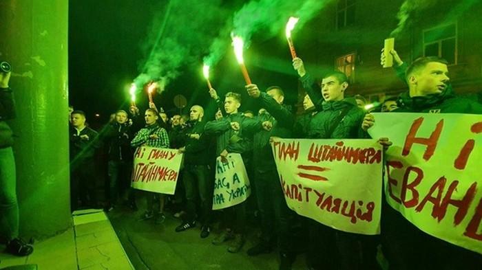 Против формулы Штайнмайера митинговали еще в четырех городах