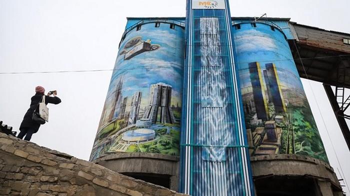 В Запорожье создали крупнейший мурал в Украине (фото)