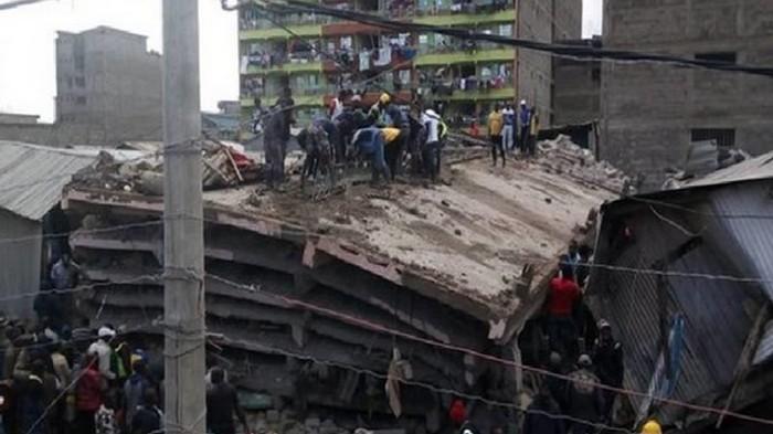 В Кении рухнуло шестиэтажное здание