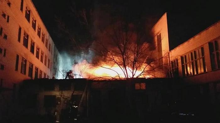 В Харькове горел Центр профтехобразования