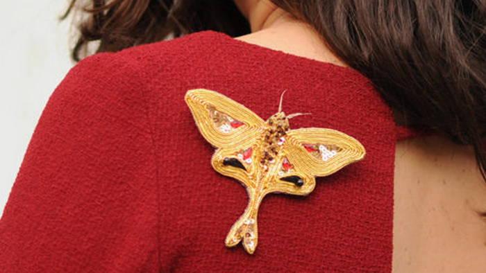 Брошь бабочка из канители: пошаговый мастер класс