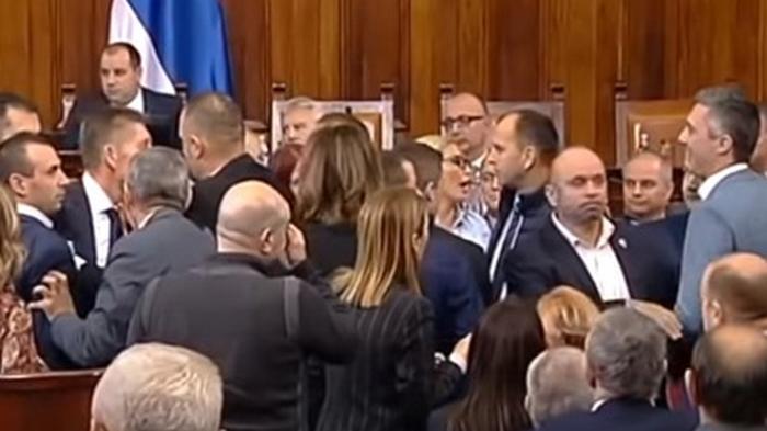 Депутаты и министры Сербии устроили драку из-за закона о церкви (видео)