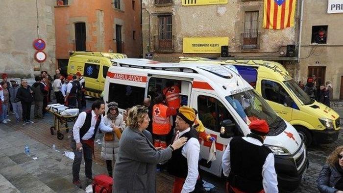 В Испании на фестивале прогремел взрыв (видео)