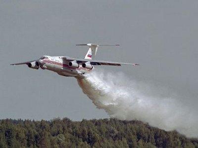 В РФ разбился тушивший пожары Ил-76 с людьми на борту
