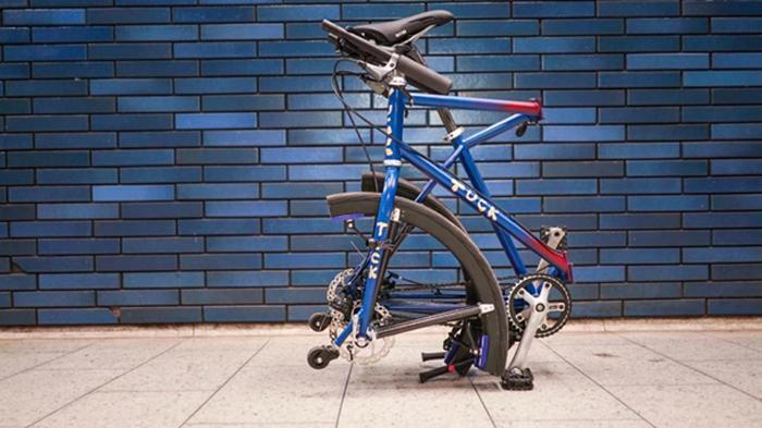 Изобретен велосипед со складными колесами (видео)