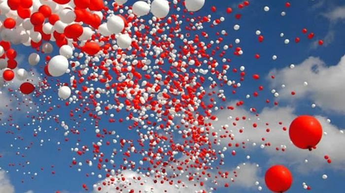 Воздушные шарики в роли главного украшения праздника