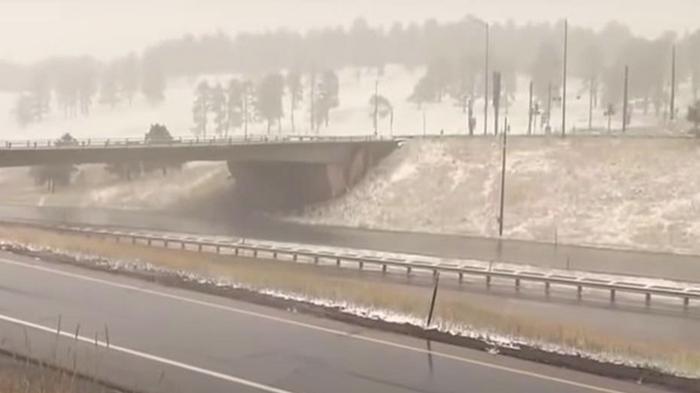 В США в нескольких штатах неожиданно выпал снег (видео)