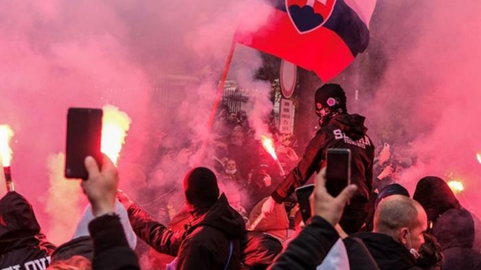 В Братиславе протестовали против карантинных ограничений