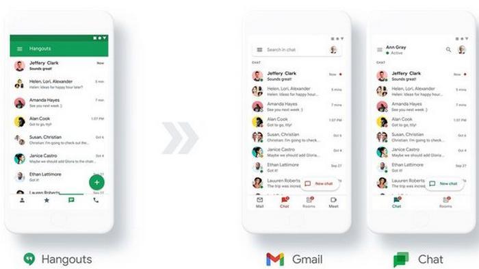 Google закроет Hangouts и переведет пользователей в Google Chat