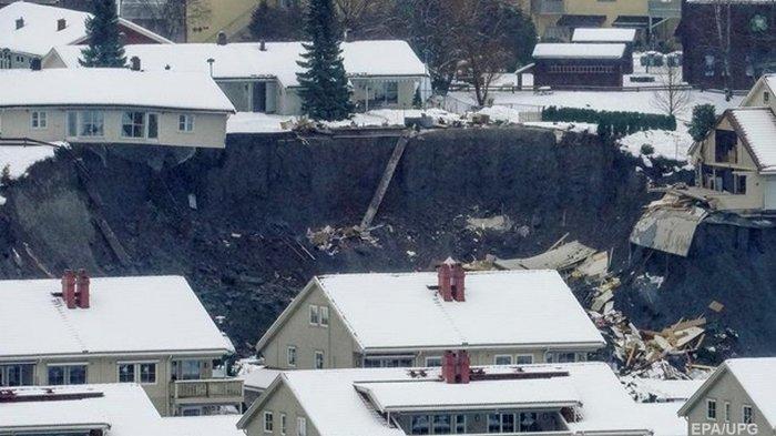 В Норвегии произошел оползень, есть пострадавшие (фото)