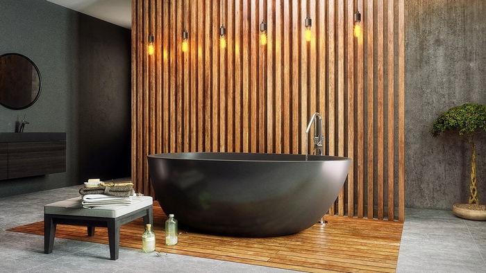 Каменная ванна — доступная роскошь в интерьере
