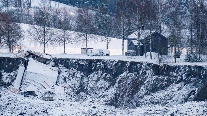 В Норвегии оползень забрал жизни двух человек (видео)