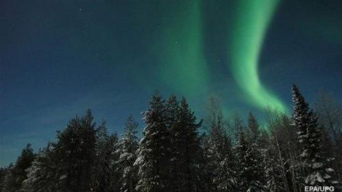 В Лапландии наблюдали яркое северное сияние (видео)