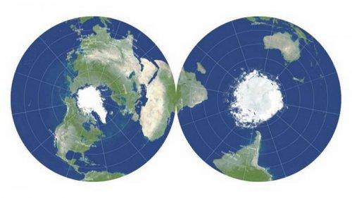 Создана самая точная плоская карта Земли