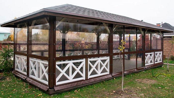 М'які вікна (вуличні штори) для веранд, альтанок або терас