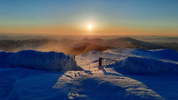 В Карпатах температура воздуха опустилась до -11°