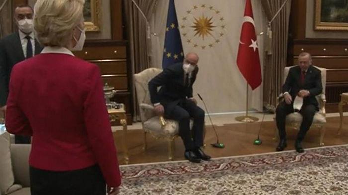 На встрече с Эрдоганом главе ЕК не дали стул
