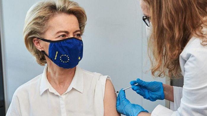 Глава Еврокомиссии сделала прививку от коронавируса