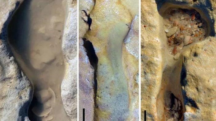 Ученые обнаружили окаменелые детские следы возрастом сто тысяч лет
