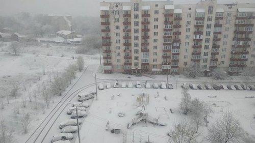 В Украине прошли снегопады (видео)