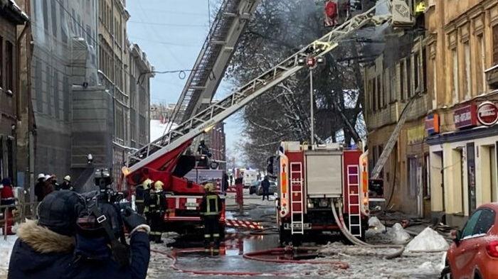 Пожар в Риге: задержаны три человека