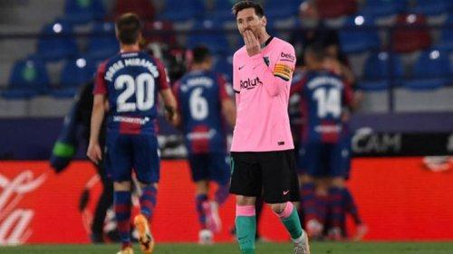 Барселона сыграла вничью с Леванте и упустила шанс стать лидером Ла Лиги