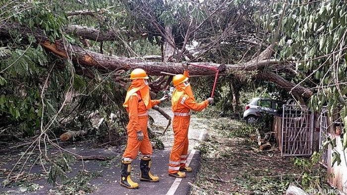 Индию накрыл мощный циклон (видео)