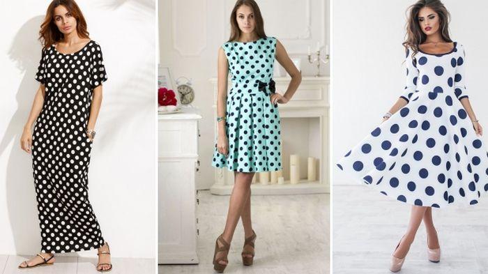 Платье в горошек: универсальный выбор