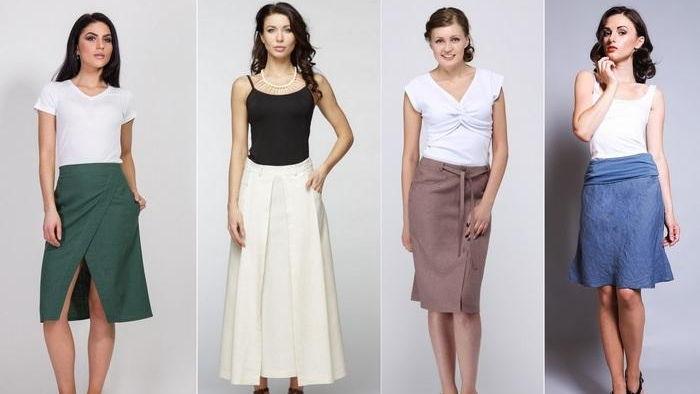 Типы женских юбок