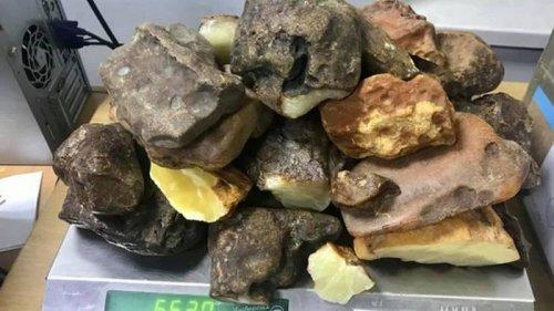 Украинец пытался почтой отправить за границу 12 кг янтаря
