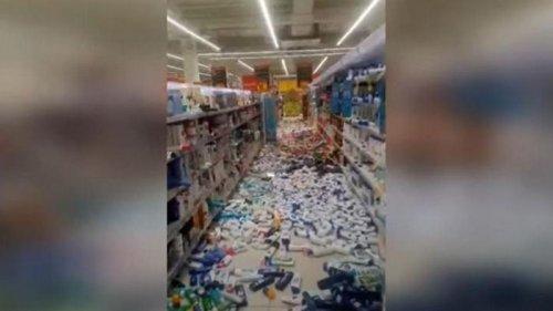Землетрясение в Перу вызвало панику (видео)