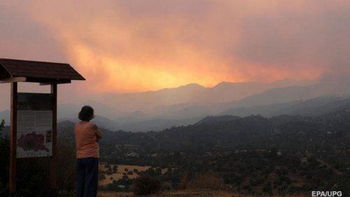 На Кипре крупнейший за последние 40 лет лесной пожар - президент
