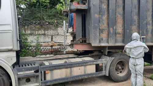 В порту Херсона выявили грузовик с радиоактивным металлоломом (фото)